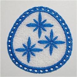 FSL Star Egg embroidery design