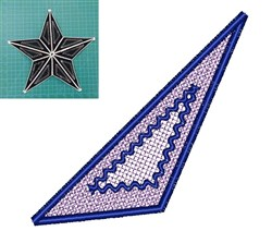 FSL Star Tree Topper embroidery design