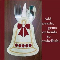 ITH Christmas Utensil Holder embroidery design