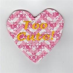 Too Cute Mug Rug embroidery design