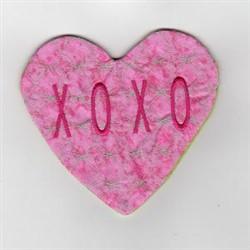 XOXO Mug Rug embroidery design