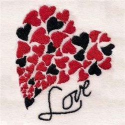Hearts Of Love embroidery design