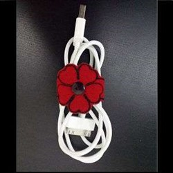 ITH Flower Cable Tie embroidery design