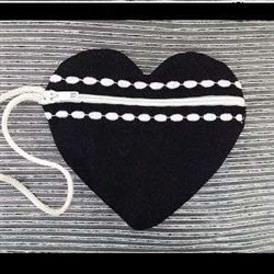Decorative ITH Heart Bag embroidery design