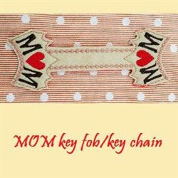 ITH Mom Key Chain embroidery design