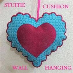 ITH Heart Cushion embroidery design