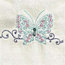 Lacy Butterly embroidery design