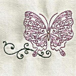 Lace Butterfly embroidery design