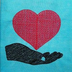 Handful Of Love embroidery design