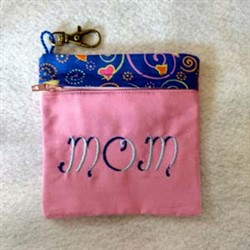 Mothers Day Zippered Bag embroidery design