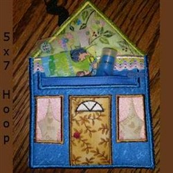 ITH Play House Zippered Pouch embroidery design