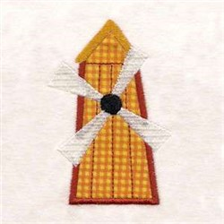 My Farm Applique Windmill embroidery design