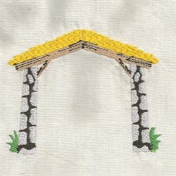Nativity Shelter embroidery design