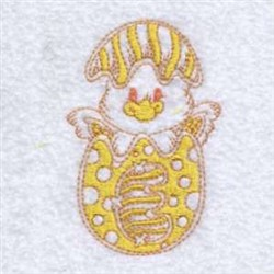 Partially Filled Easter Chick embroidery design