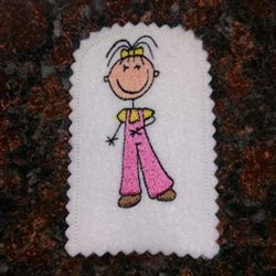 Play House Family Girl embroidery design