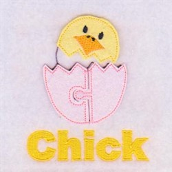 Easter Chick Puzzle Pieces embroidery design