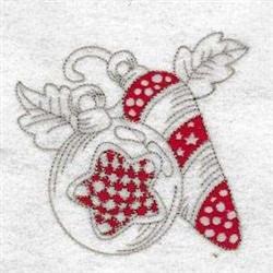 Rag Christmas Ornaments embroidery design