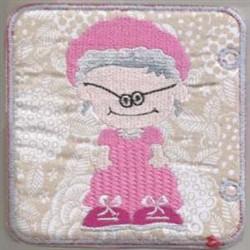 Red Riding Hood Grandma embroidery design