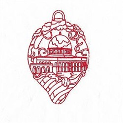 Redwork Christmas Decoration embroidery design