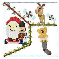 Santa Baby & Stocking Block embroidery design