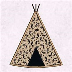Southwestern Teepee Applique embroidery design