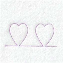 Spring Heart Border embroidery design