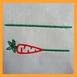 Spring Carrot Monogram embroidery design