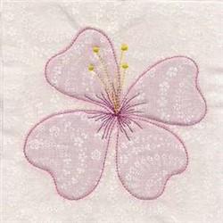 True Trapunto Flower embroidery design