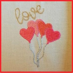 Valentines Day Balloons embroidery design