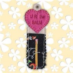 Your The BALM Chapstick Holder embroidery design