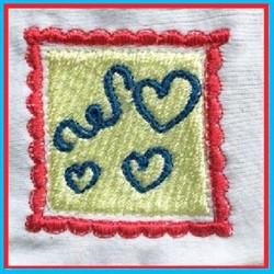Valentine Heart Stamp embroidery design