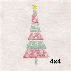Whimsical Holiday Tree embroidery design
