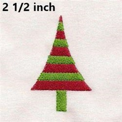 Small Holiday Tree embroidery design