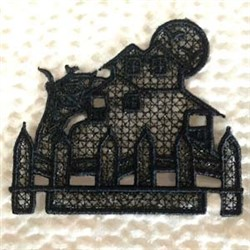FSL Halloween Haunted House embroidery design