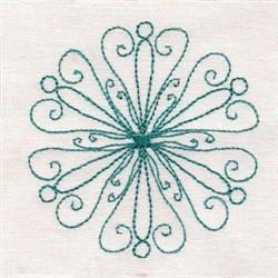 Bluework Snowflakes embroidery design