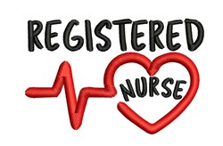 Registered Nurse embroidery design