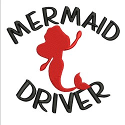 Mermaid Driver embroidery design