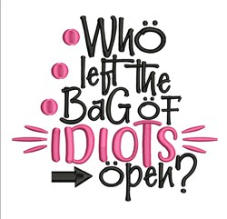 Bag Of Idiots embroidery design