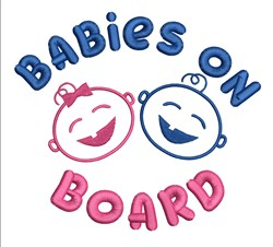 Babies On Board embroidery design