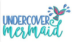 Undercover Mermaid embroidery design