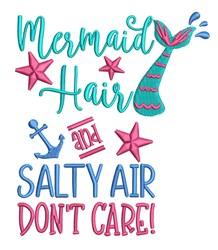 Mermaid Hair embroidery design