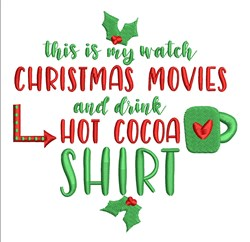Christmas Shirt embroidery design