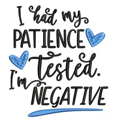 Patience Tested embroidery design
