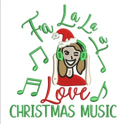 Christmas Music embroidery design