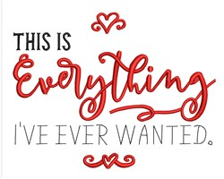 Everything I Wanted embroidery design