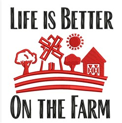 Life On The Farm embroidery design