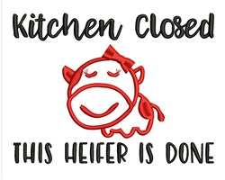 Kitchen Closed embroidery design