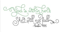 Psalm 46:5 embroidery design