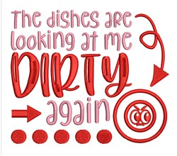 Dirty Dishes embroidery design