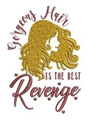 Gorgeous Hair embroidery design